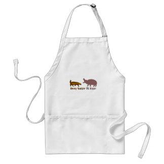 Honey Badger vs Hippo Standard Apron
