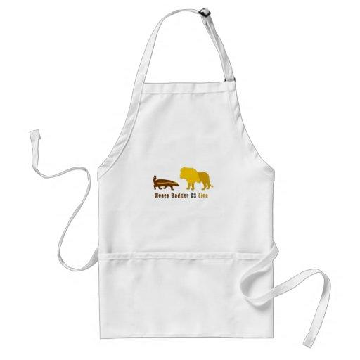 honey badger vs lion apron