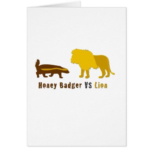 honey badger vs lion card