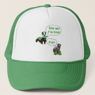 Honey badger v's meerkats trucker hat