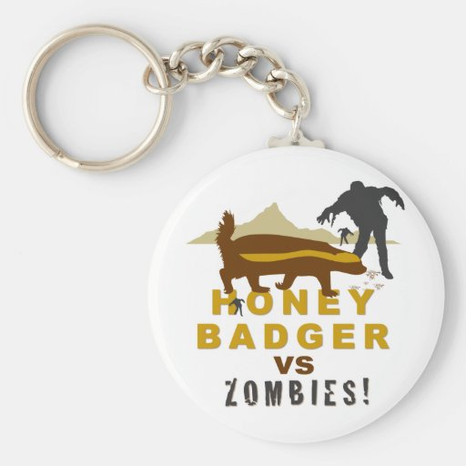 honey badger vs zombies key chains