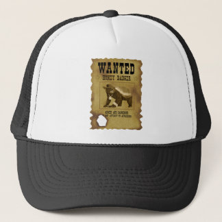 Honey Badger Wanted Poster Trucker Hat
