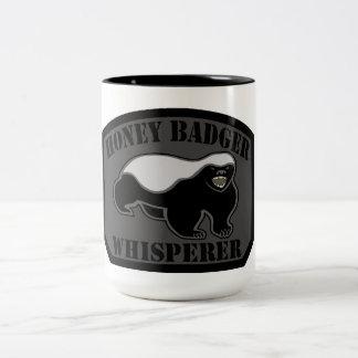 Honey Badger Whisperer Two-Tone Mug