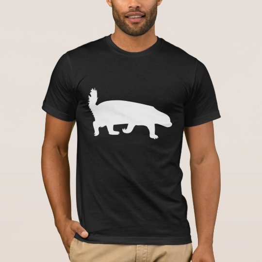 Honey Badger White T-Shirt