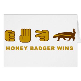 honey badger wins greeting card
