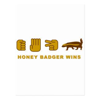 honey badger wins postcard