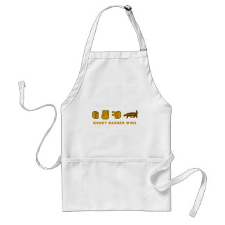 honey badger wins standard apron
