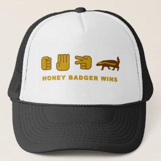 honey badger wins trucker hat