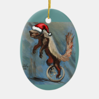Honey Badger X-mas Christmas Ornament