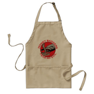Honey Badgers 'fear no evil' Standard Apron