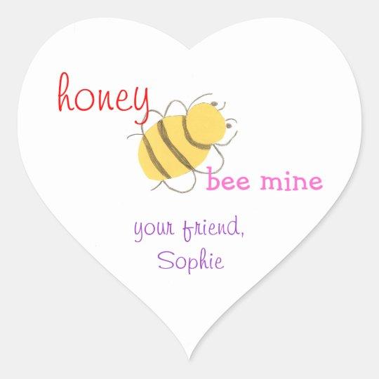 Honey be mine personalised valentine sticker