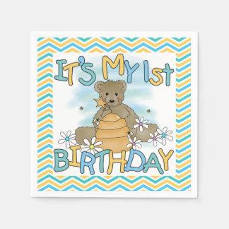 Honey Bear 1st Birthday Paper Napkins