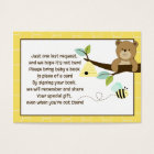 Honey Bear and Bee Enclosure Book Request Cards