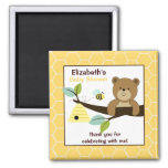 Honey Bear and Bee Square Favour Magnet
