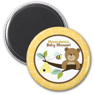 Honey Bear and Bumble Bee Custom Favor Magnet