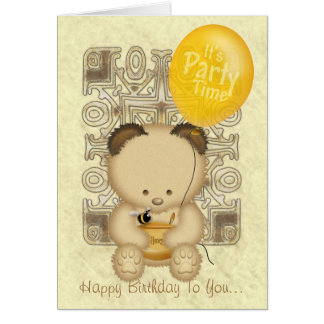 Honey Bear Custom Birthday Card