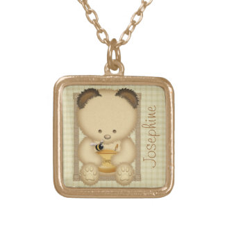 Honey Bear Personalized Necklace