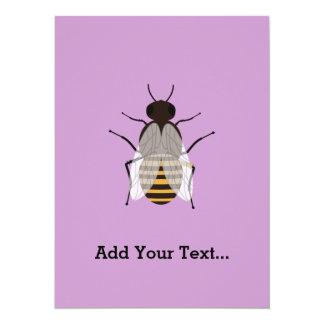 Honey bee 14 cm x 19 cm invitation card