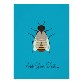 Honey bee 17 cm x 22 cm invitation card