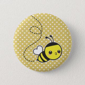 Honey Bee 6 Cm Round Badge