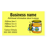 Honey Bee and Jar Business card