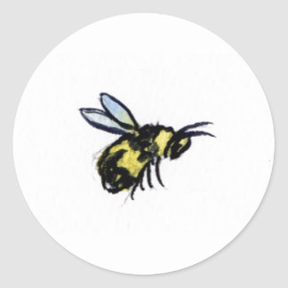 Honey Bee Art Painting Label Stickers