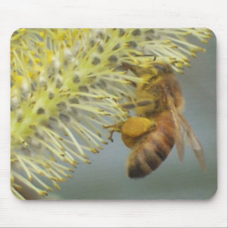 Honey Bee at Work Mouse Pad
