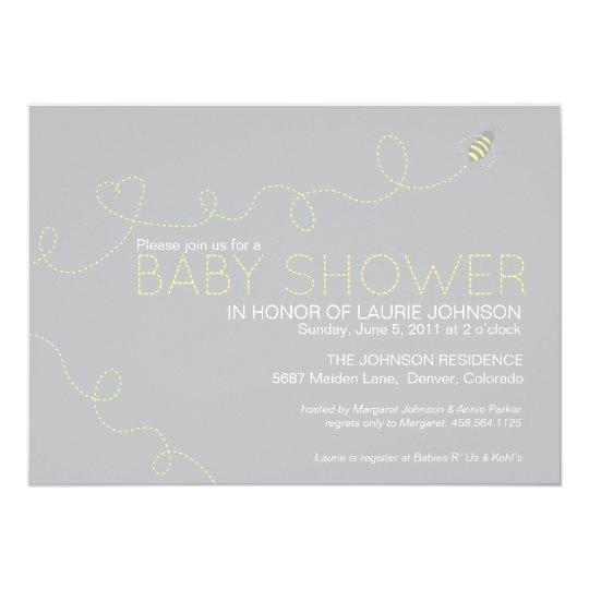 Honey Bee Baby Shower Invitation