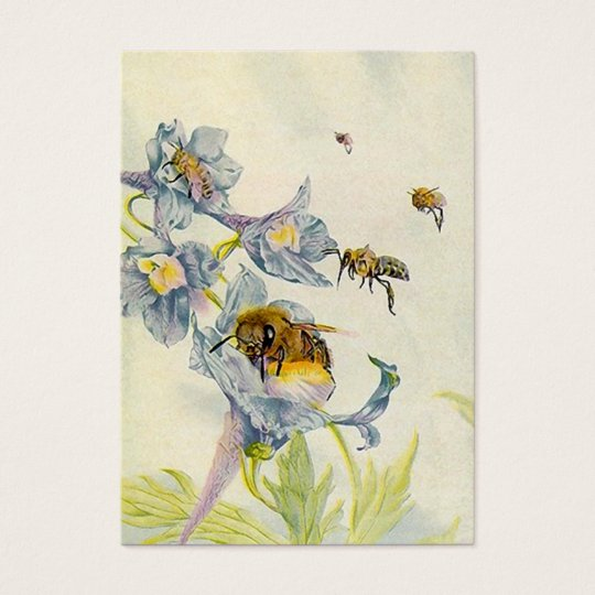 HONEY BEE BASKET TAGS ~ GIFT TAG CARDS