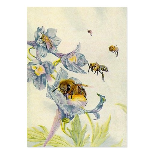 HONEY BEE BASKET TAGS ~ GIFT TAG CARDS & BUSINESS BUSINESS CARD