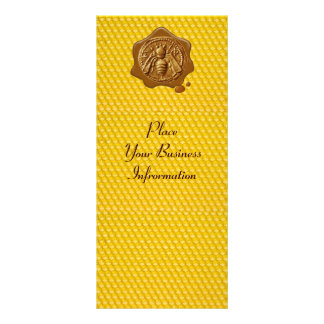 HONEY BEE ,BEEKEEPER APIARIST BROWN WAX SEAL PERSONALIZED RACK CARD