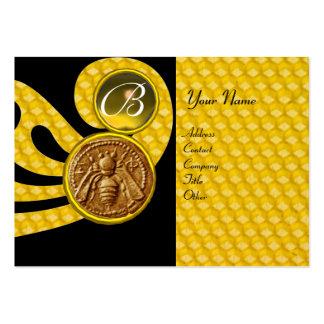 HONEY BEE ,BEEKEEPER APIARIST MONOGRAM BUSINESS CARD TEMPLATE