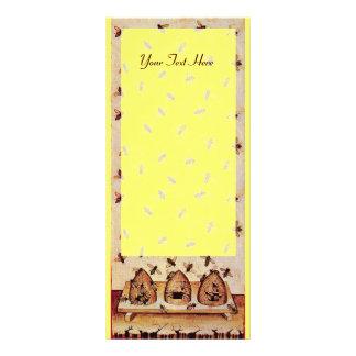 HONEY BEE ,BEEKEEPER APIARIST RACK CARD DESIGN