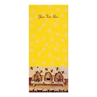 HONEY BEE ,BEEKEEPER APIARIST RACK CARD TEMPLATE