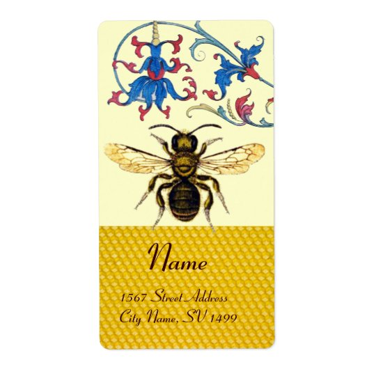 HONEY BEE ,BEEKEEPER APIARIST SHIPPING LABEL