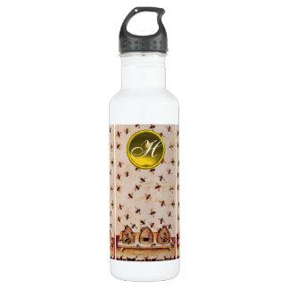 HONEY BEE ,BEEKEEPER,Gemstone Monogram 710 Ml Water Bottle