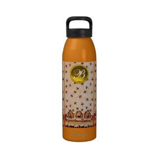 HONEY BEE BEEKEEPER Gemstone Monogram Reusable Water Bottle