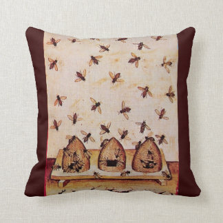 HONEY BEE ,BEEKEEPER THROW PILLOW