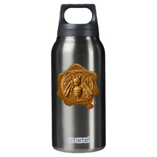 HONEY BEE ,BEEKEEPER,WAX SEAL 10 OZ INSULATED SIGG THERMOS WATER BOTTLE
