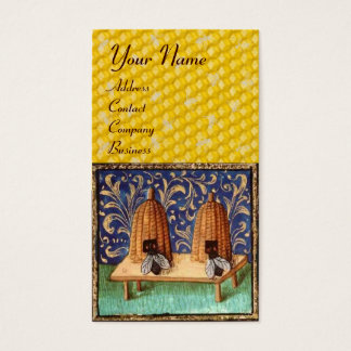 HONEY BEE ,BEEKEEPING, BEEKEEPER MONOGRAM BUSINESS CARD