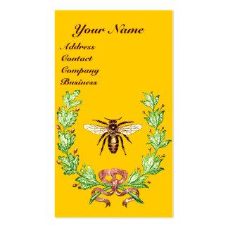 HONEY BEE BEEKEEPING WREATH RED WAX SEAL MONOGRAM BUSINESS CARDS