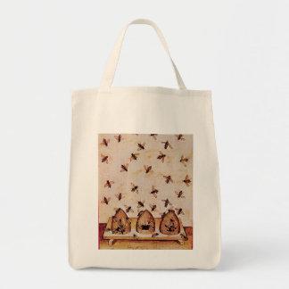 HONEY BEE, BEEKEPER GROCERY TOTE BAG