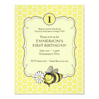 Honey Bee Birthday Invite