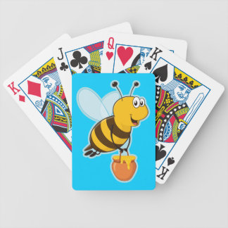 Honey Bee Blue Playing Cards