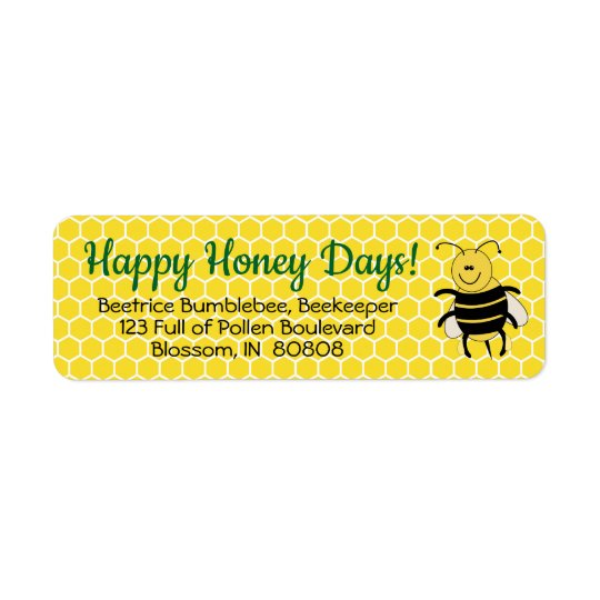 Honey Bee Christmas Return Address Labels Custom