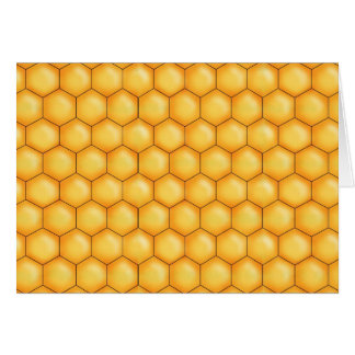 honey bee comb texture card