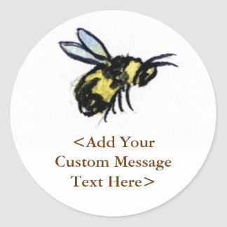 Honey Bee Custom Design Art Label Stickers