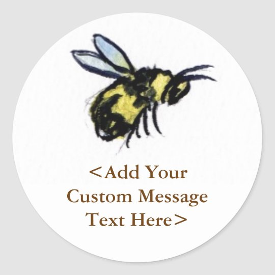 Honey Bee Custom Design Art Label Stickers