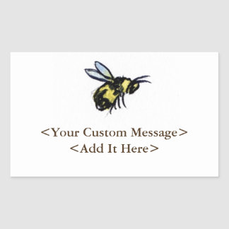 Honey Bee Customized Insect Rectangle Bug Stickers