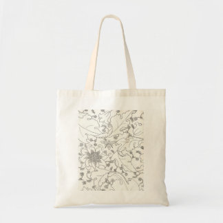 Honey bee floral tote bag